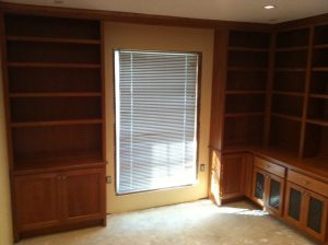 Katy TX Custom Home Office Cabinets