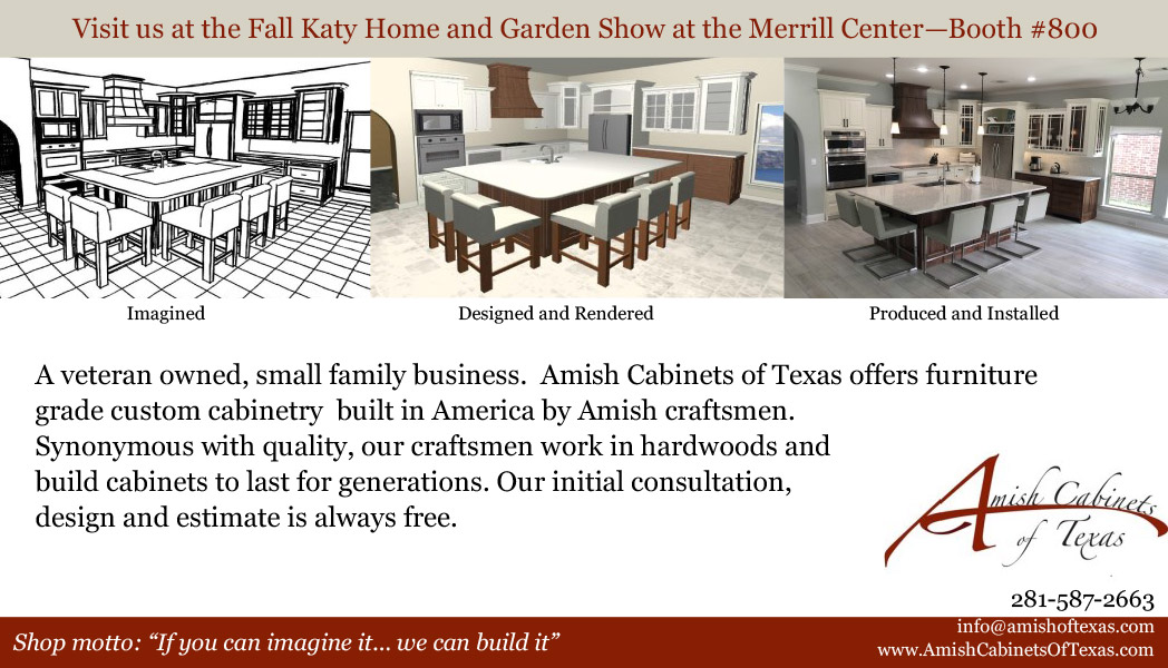 Fall Katy Home and Garden Show Amish Cabinets Ad
