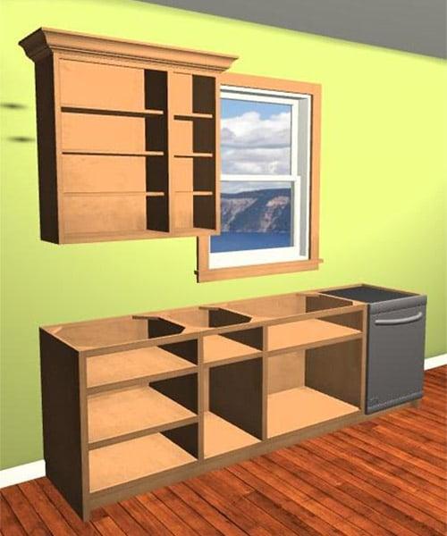Custom Cabinet Doors Off
