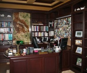 Houston TX custom home office space cabinets